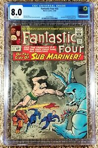 Fantastic Four #33 CGC 8.0 1st App Of Attuma (Marvel, 1964) Sub-Mariner App