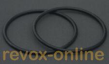 2 Stück (1 Satz) Gummiringe O-Ringe NAB-Adapter Studer Revox darklab BASF