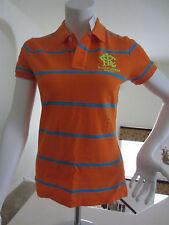 Polo Ralph Lauren Womens Classic Short Sleeve Mesh Polo Shirt ORANGE STRIPE L$98