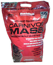 Carnivor Mass, MuscleMeds, Beef Protein powder, 10 Lb bag, Chocolate Fudge