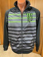 Monster Energy One Industries Supercross Striped Soft Shell Jacket/Coat Black L