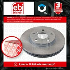 2x Brake Discs Pair Vented fits TOYOTA COROLLA E15 1.4D Front 06 to 14 1ND-TV