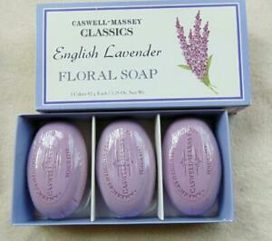 Caswell-Massey Floral Soap Classic 3 Cakes / Bars Lavender New in Box