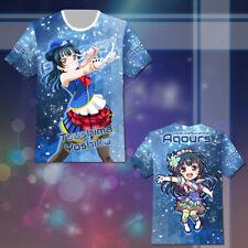 Love Live Sunshine Tsushima Yoshiko T-shirt Tee Top Cosplay Costume Summer Gift