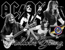 """Malcolm Young """"Rock, Pop Music"""" Personalized T-shirts"""