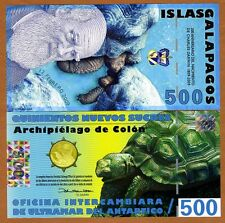 Galapagos Islands, 500 Sucres, 2009, UNC   Darwin Commemorative