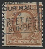 US Stamps - Scott # 446 - p10 vert. - Used, Sound - 24.5 mm tall         (H-682)