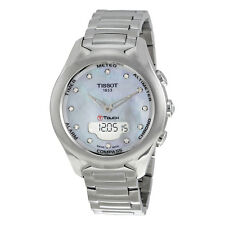 Tissot T-Touch Solar Mother of Pearl Diamond Dial Stainless Steel Ladies Watch