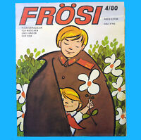 Frösi 4/1980 DDR-Pioniermagazin + Umschlag + 6 Beilagen BFC Dynamo mini-Frösi 9