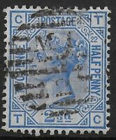 SG157.  2&1/2d.Blue Pl.22.  A FU Example of Bright Colour.  Cat.£40.  Ref:0439