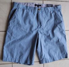 Men's Tommy Hilfiger Sz 36 Shorts 7810711 425 Blue Flat Front Cotton Walk Casual