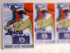 """#3134 Leica 1 elmar 50mm 3.5 Film Camera Vintage ad ski art 2.5x4"""" Decal Sticker"""