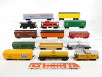 CG134-2# 14x H0/DC US-Güterwagen: Santa Fe+Amtrak+Pennsylvania etc Mängel/defekt