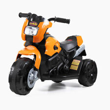 Orange 3 Wheel Kids Ride On Motorcycle 6V Battery Powered Electric Power Bicycle