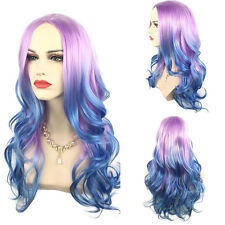 65cm Colorful Long Curly Wig Rainbow Gothic Lolita Cosplay Drag Wavy Wig