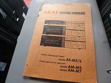 AKAI  AT-M5/AM-M5/AM-M7 TUNER AMPLIFIER SERVICE MANUAL