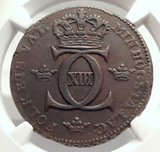 1812 SWEDEN King Charles ( Carl ) XIII 1 Skilling Swedish Coin NGC i71315