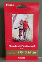 """Canon Photo Paper Plus Glossy II 4""""x6"""" NEW IN BOX 100 Sheets  FREE SHIPPING!!"""