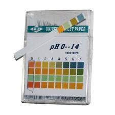 100Pcs/set PH Indicator Test Strips 0-14 Test Paper Water Tester Urine Saliva