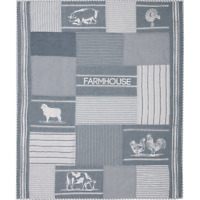 SAWYER MILL BLUE Farm Animal Quilted Throw Blanket Patchwork Farmhouse VHC