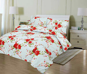 Super Soft Printed Duvet Quilt Cover Set with Pillow Cases ,Fitted Sheets Dyed