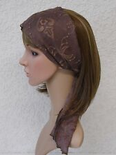 Hair Scarf, Elegant Head Scarf, Embroidered Headband, Hair Band, Self Tie Scarf