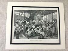 Antique Print Old Burma Buddhist Priest Temple Buddhism 19th Century Art