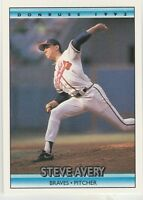 FREE SHIPPING-MINT-1992 Donruss Atlanta Braves Baseball Card #81 Steve Avery