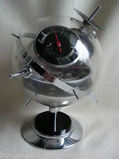 1950s GERMAN CHROME SPUTNIK WEATHERSTATION SATELLITE MODERNIST BARO THERMO MINT