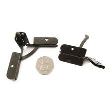 """Pair 2 1//8/"""" Serpentine Design Antique Black Iron Cabinet Hinge"""