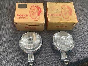 porsche 356 pre a & a vw split oval bug bus NOS pair Bosch accessory spot lights