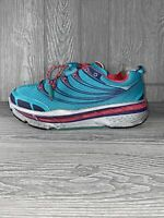 Hoka One One Women's Stinson Tarma Running Shoes Aqua Pink Hubble Size 8.5