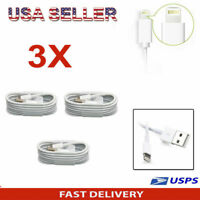 3 PACK - Apple MFi Certified Lightning USB Charger Cable For iPhone 6  7 8 Plus