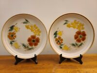 "Set of 2 Imperial Stoneware W.M Dalton Mountain Song 10 3/4"" Dinner Plates Japan"