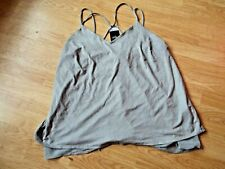 NEXT , GREY, FAUX SUEDE FEEL STRAPPY TOP SIZE 20 BNWT