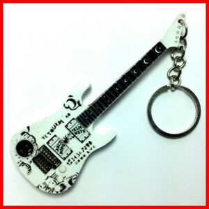 METALLICA - GUITARE MINIATURE PORTE CLE !  Ouija White Kirk Hammett Heavy metal