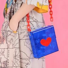 Designer cute graffiti heart and smile acrylic women's bag clutch shoulder bags