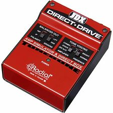 Radial Engineering JDX Direct Drive Amp Simulator and DI Box - UN-USED IN BOX!