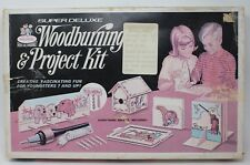 Vintage Rapco Super Deluxe Wood Burning Set & Project Kit 6910S Working