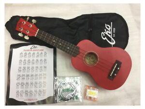 Eko Uku Primo Ukulele Soprano red + custodia + corde + accordatore + prontuario