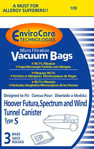 """36 Hoover """"S"""" Micro Lined Vacuum  Bags"""