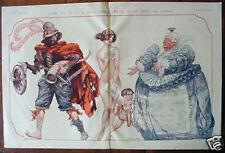 Original FRENCH 1925 La Vie Parisienne PRINT NUDE CUPID Taxes!!