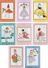 Vintage Wild Flower Children Elizabeth Gordon Janet Scott ATC note cards 8