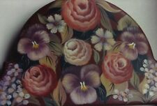 HELEN CAVIN Floral Mirror or Door Crown Decorative Tole Painting Pattern Packet