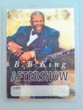 B B KING VINTAGE AFTERSHOW LAMINATED BACKSTAGE PASS