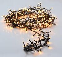 1000 Warm White Led Christmas Fairy String Lights Indoor Outdoor Cluster Lights