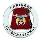 Shriners International Fez Round Masonic Auto Emblem - [3'' Diameter]