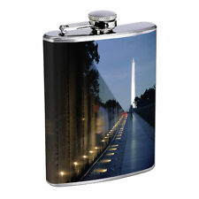 Washington D.C. D5 Flask 8oz Stainless Steel Hip Drinking Whiskey Monuments