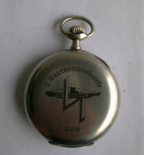 German Watch Pocket Uboot WW2 Uboat U108 Kriegsmarine marked