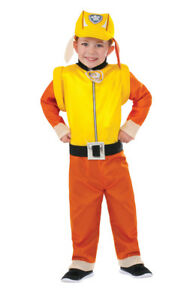 Boys Child & Toddler Rubble Paw Patrol Costume Jumpsuit Hat & Pup Backpack